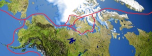 Route through the Northwest Passage